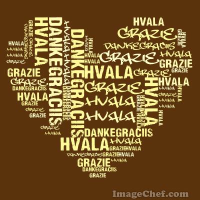 Grazie – graciis – hvala –danke