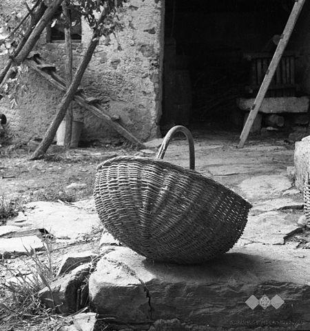 Cajna_(košara)_za_sadje,_domače_delo_1953