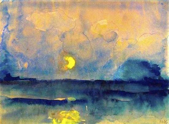 Emil-Nolde-Half-Moon-over-t